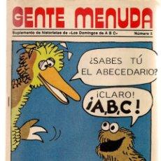 Coleccionismo de Los Domingos de ABC: GENTE MENUDA. Nº 5. LOS DOMINGOS DE ABC. A B C. 1976. AT. DE MADRID. (ST/C86). Lote 199327636