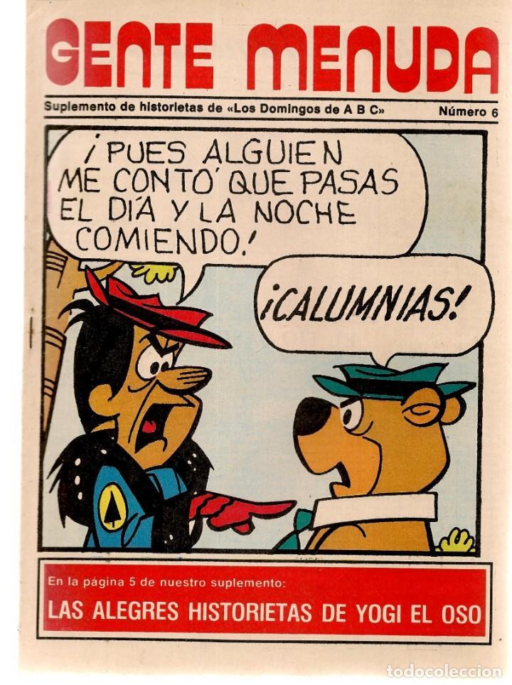 GENTE MENUDA. Nº 6. LOS DOMINGOS DE ABC. A B C. 1976. POSTER: REAL MADRID. (ST/C86) (Coleccionismo - Revistas y Periódicos Modernos (a partir de 1.940) - Los Domingos de ABC)