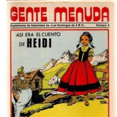 Coleccionismo de Los Domingos de ABC: GENTE MENUDA. Nº 8. LOS DOMINGOS DE ABC. A B C. 1976. POSTER: HEIDI. (ST/C86). Lote 199328018