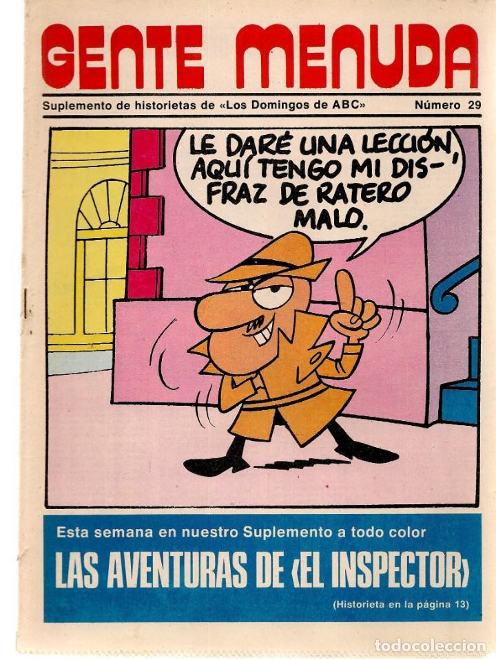 GENTE MENUDA. Nº 29. LOS DOMINGOS DE ABC. A B C. 1976. POSTER: DANIEL EL TRAVIESO. (ST/C86) (Coleccionismo - Revistas y Periódicos Modernos (a partir de 1.940) - Los Domingos de ABC)