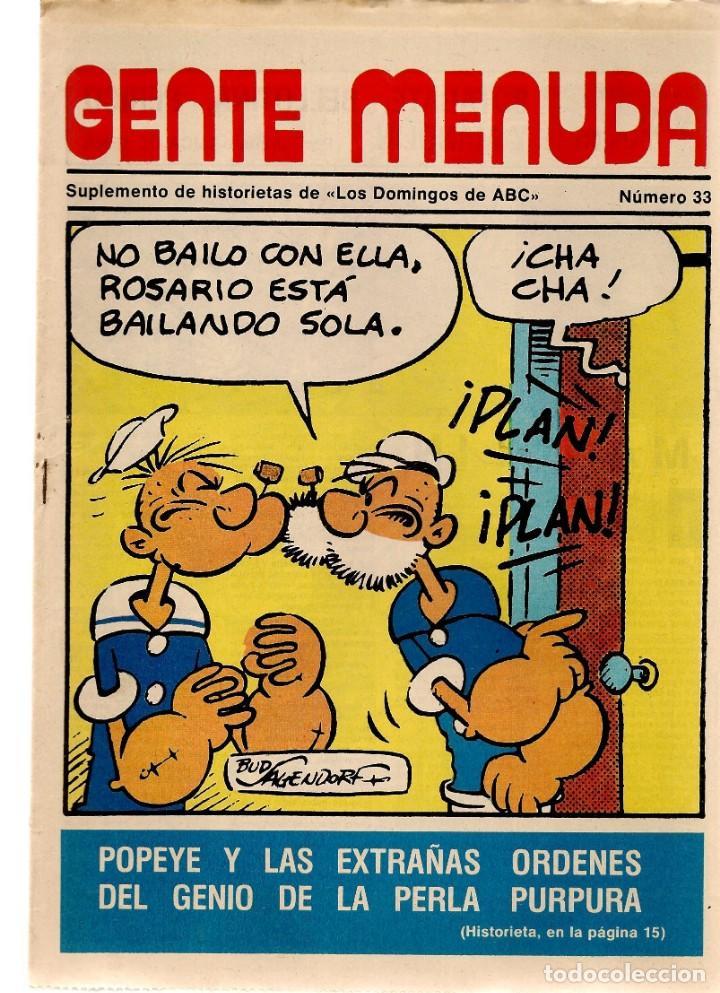 GENTE MENUDA. Nº 33. LOS DOMINGOS DE ABC. A B C. 1976. POSTER: DANIEL EL ZOO PLANETARIO. (ST/C86) (Coleccionismo - Revistas y Periódicos Modernos (a partir de 1.940) - Los Domingos de ABC)