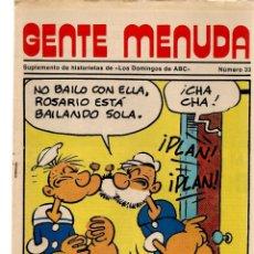 Coleccionismo de Los Domingos de ABC: GENTE MENUDA. Nº 33. LOS DOMINGOS DE ABC. A B C. 1976. POSTER: DANIEL EL ZOO PLANETARIO. (ST/C86). Lote 199328545