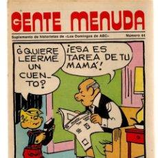 Coleccionismo de Los Domingos de ABC: GENTE MENUDA. Nº 44. LOS DOMINGOS DE ABC. A B C. 1976. (ST/C86). Lote 199328921