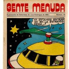 Coleccionismo de Los Domingos de ABC: GENTE MENUDA. Nº 49. LOS DOMINGOS DE ABC. A B C. 1976. (ST/C86). Lote 199329050