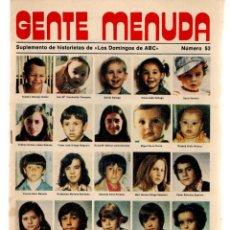 Coleccionismo de Los Domingos de ABC: GENTE MENUDA. Nº 53. LOS DOMINGOS DE ABC. A B C. 1976. (ST/C86). Lote 199329140
