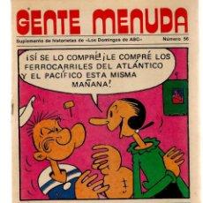Coleccionismo de Los Domingos de ABC: GENTE MENUDA. Nº 56. LOS DOMINGOS DE ABC. A B C. 1976. (ST/C86). Lote 199329196