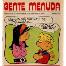 Coleccionismo de Los Domingos de ABC: GENTE MENUDA. Nº 58. LOS DOMINGOS DE ABC. A B C. 1976. POSTER: GABY. LOS PAYASOS DE LA TELE.(ST/C86). Lote 199329328