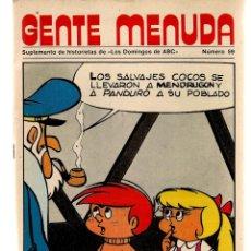 Coleccionismo de Los Domingos de ABC: GENTE MENUDA. Nº 59. LOS DOMINGOS DE ABC. A B C. POSTER: MILIKI. LOS PAYASOS DE LA TELE.(ST/C86). Lote 199329590