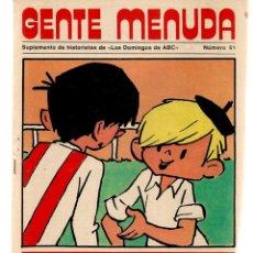 Coleccionismo de Los Domingos de ABC: GENTE MENUDA. Nº 61. LOS DOMINGOS DE ABC. A B C. POSTER: MILIKITO. LOS PAYASOS DE LA TELE.(ST/C86). Lote 199329937