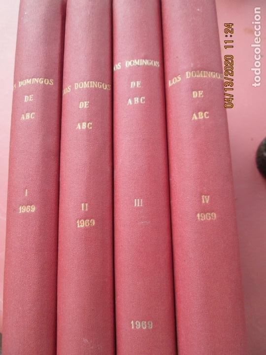 Coleccionismo de Los Domingos de ABC: LOS DOMINGOS DE ABC, AÑO 1969 SUPLEMENTOS COMPLETO Y ENCUADERNADO en 4 TOMOS - Foto 2 - 200201437