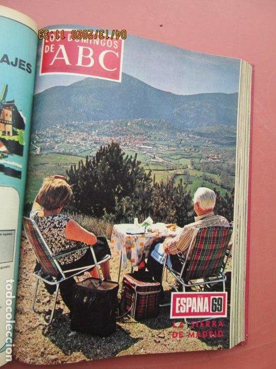 Coleccionismo de Los Domingos de ABC: LOS DOMINGOS DE ABC, AÑO 1969 SUPLEMENTOS COMPLETO Y ENCUADERNADO en 4 TOMOS - Foto 20 - 200201437