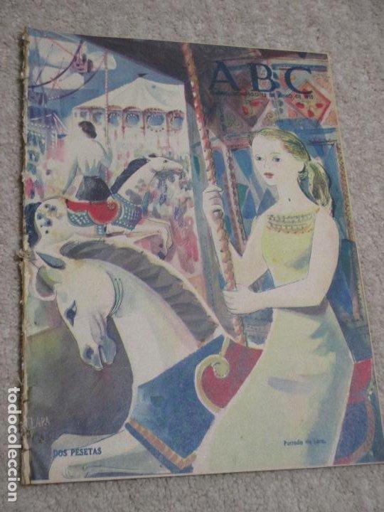 LOS DOMINGOS DE ABC 12/06/55 CLARÍN, EN BISCUTER POR LA MANCHA, CÁDIZ, SALAMANCA, MALLORCA (Coleccionismo - Revistas y Periódicos Modernos (a partir de 1.940) - Los Domingos de ABC)