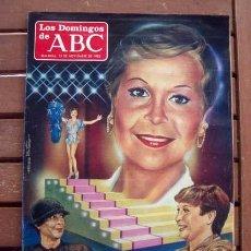 Coleccionismo de Los Domingos de ABC: DOMINGOS DE ABC / LINA MORGAN, LA ALHAMBRA, APARICIONES EN EL ESCORIAL, CHRISTIAN DIOR. Lote 204316512