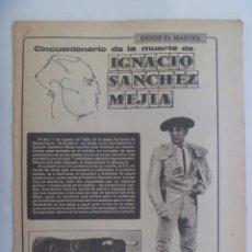 Coleccionismo de Los Domingos de ABC: HOJAS COLECCIONABLES DEL ABC : CINCUENTENARIO DE LA MUERTE DE IGNACIO SANCHEZ MEJIAS. 1934-1984. Lote 205827975