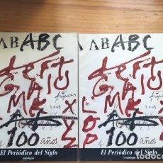 Coleccionismo de Los Domingos de ABC: ABC EL PERIODICO DEL SIGLO. 2 VOLUMENES ANTOLOGÍA Y CRONOLOGÍA. AÑO 2003 MUNDI-2675. Lote 205832618