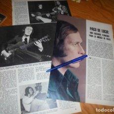 Coleccionismo de Los Domingos de ABC: RECORTE : PACO DE LUCIA, UNA GUITARRA FLAMENCA. DOMINGOS ABC, JULIO 1978. Lote 208756986