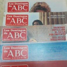 Coleccionismo de Los Domingos de ABC: LOTE DE 5 NUMEROS DEL SUPLEMENTO DOMINICAL DE ABC VERANO DEL 86. Lote 212040606