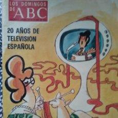 Coleccionismo de Los Domingos de ABC: LOS DOMINGOS DE ABC 24 DE OCTUBRE DE 1976 20 AÑOS DE TELEVISION ESPAÑOLA CON PORTADA DE MINGOTE. Lote 213177282