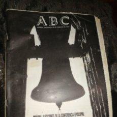 Coleccionismo de Los Domingos de ABC: PERIÓDICO ABC, AÑO 1987,ELECCIONES CONFERENCIA EPISCOPAL.. Lote 213286846