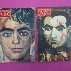 Coleccionismo de Los Domingos de ABC: LOS DOMINGOS DE ABC ,1972 Y 1985 , ESPECIAL LORCA. Lote 214246593