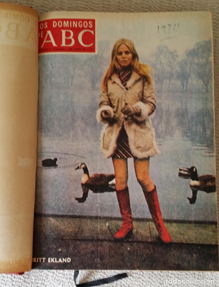 LOS DOMINGOS DE ABC. AÑO 1974 (ENERO- DICIEMBRE) - TOMO ENCUADERNADO (Coleccionismo - Revistas y Periódicos Modernos (a partir de 1.940) - Los Domingos de ABC)