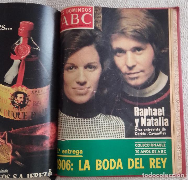 Coleccionismo de Los Domingos de ABC: LOS DOMINGOS DE ABC. Año 1975 (enero - junio) - tomo encuadernado - Foto 3 - 215786145