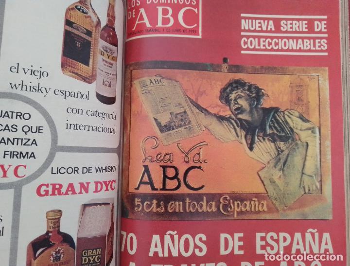 LOS DOMINGOS DE ABC. AÑO 1975 (ENERO - JUNIO) - TOMO ENCUADERNADO (Coleccionismo - Revistas y Periódicos Modernos (a partir de 1.940) - Los Domingos de ABC)