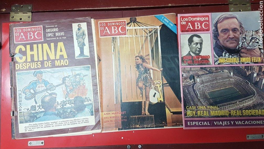 Coleccionismo de Los Domingos de ABC: Lote revistas los domingos de abc - Foto 5 - 218107196