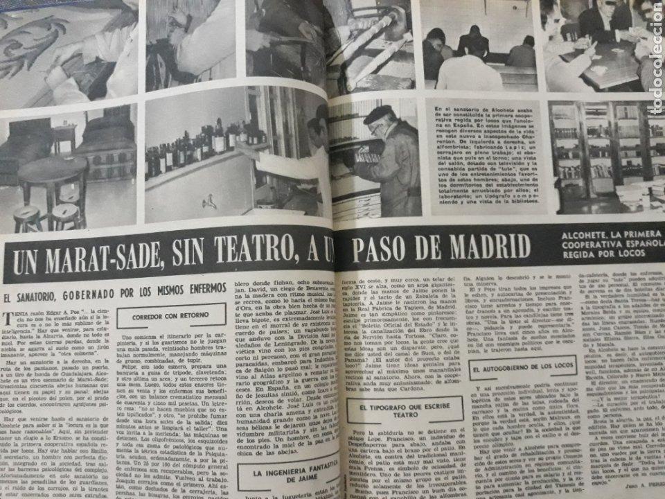 EN ALCOHETE , LA ALCARRIA , PRIMERA COOPERATIVA REGIDA POR LOCOS . DOS PÁGINAS. AÑO 1969 (Coleccionismo - Revistas y Periódicos Modernos (a partir de 1.940) - Los Domingos de ABC)