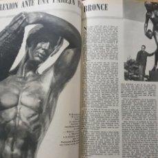 Coleccionismo de Los Domingos de ABC: ESCULTURAS DE AGUSTÍN DE LA HERRAN .DOS PAGINAS AÑO 1969. Lote 218420847
