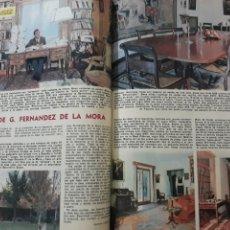 Coleccionismo de Los Domingos de ABC: EN CASA DE GONZALO FERNÁNDEZ DE LA MORA . DOS PÁGINAS AÑO 1969. Lote 218422001