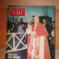 Colecionismo de Los Domingos de ABC: LOS DOMINGOS DE ABC. REVISTA SUPLEMENTO SEMANAL 27-7-69. AFRICA DE LA NEGRA ESPERANZA.. Lote 219269531