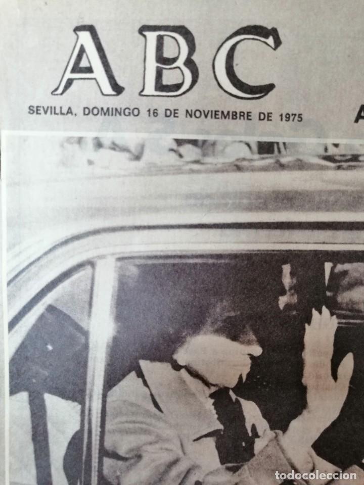 Coleccionismo de Los Domingos de ABC: PERIÓDICO ABC ENFERMEDAD DE FRANCO. DOMINGO 16 NOVIEMBRE 1975. CARMEN POLO. - Foto 2 - 219361608