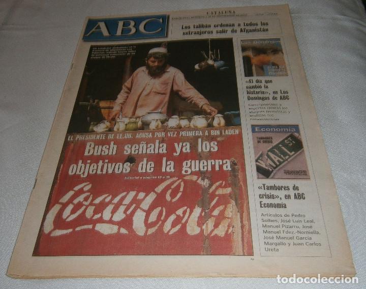 PERIODICO ABC CATALUÑA SEPTIEMBRE 2001 (Coleccionismo - Revistas y Periódicos Modernos (a partir de 1.940) - Los Domingos de ABC)