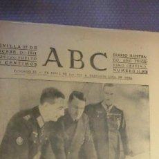 Coleccionismo de Los Domingos de ABC: ABC 27 DE DICIEMBRE DE 1941.EL FUHRER CANCILLER JEFE SUPREMO EJERCITO ALEMAN.. Lote 227843785