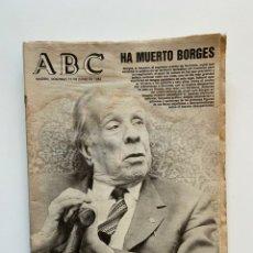 Coleccionismo de Los Domingos de ABC: PERIÓDICO ABC. 15 JUNIO 1986. FALLECIMIENTO DE JORGE LUIS BORGES. ENCUESTAS ELECTORALES.. Lote 233554560