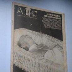 Colecionismo de Los Domingos de ABC: REVISTA ABC MADRID, MIÉRCOLES 25 ENERO 1989. LLANTO MUNDIAL POR SALVADOR DALÍ.. Lote 244642535