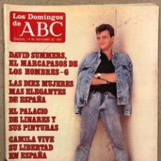 Coleccionismo de Los Domingos de ABC: LOS DOMINGOS DE ABC N° 1019 (1987). DAVID SUMMERS (HOMBRES G),.., COMPLETA (REAL MADRID),.... Lote 246453060