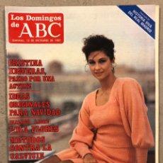 Coleccionismo de Los Domingos de ABC: LOS DOMINGOS DE ABC N° 1023 (1987). LOLA FLORES, CRISTINA HIGUERAS,... COMPLETA (REAL MADRID),.... Lote 246453735