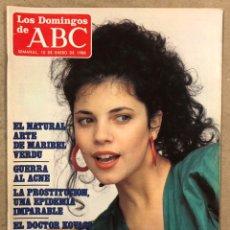 Coleccionismo de Los Domingos de ABC: LOS DOMINGOS DE ABC N° 1027 (1988). MARIBEL VERDÚ, ALEJANDRO DE UTRILLA,.... Lote 246455650
