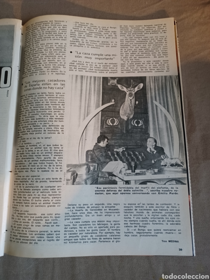 Coleccionismo de Los Domingos de ABC: REVISTA 1973 CARTAS ENTRE MENENDEZ PIDAL Y SAINZ RODRÍGUEZ- REPORTAJE MARI FRANCIS CAZADOR E.PARDO - Foto 11 - 248450035