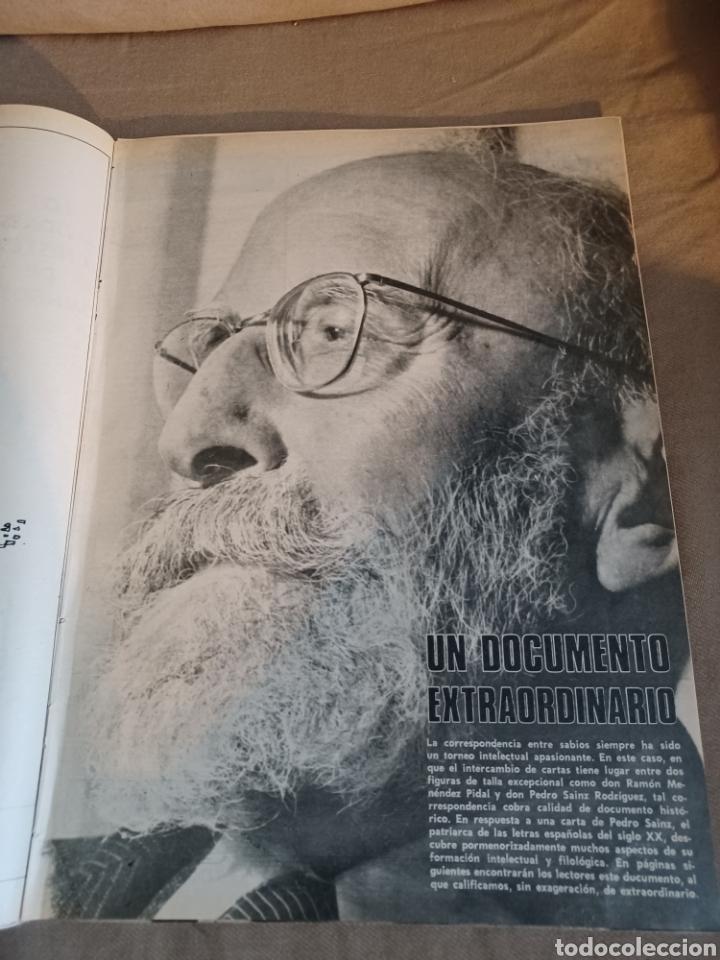 REVISTA 1973 CARTAS ENTRE MENENDEZ PIDAL Y SAINZ RODRÍGUEZ- REPORTAJE MARI FRANCIS CAZADOR E.PARDO (Coleccionismo - Revistas y Periódicos Modernos (a partir de 1.940) - Los Domingos de ABC)