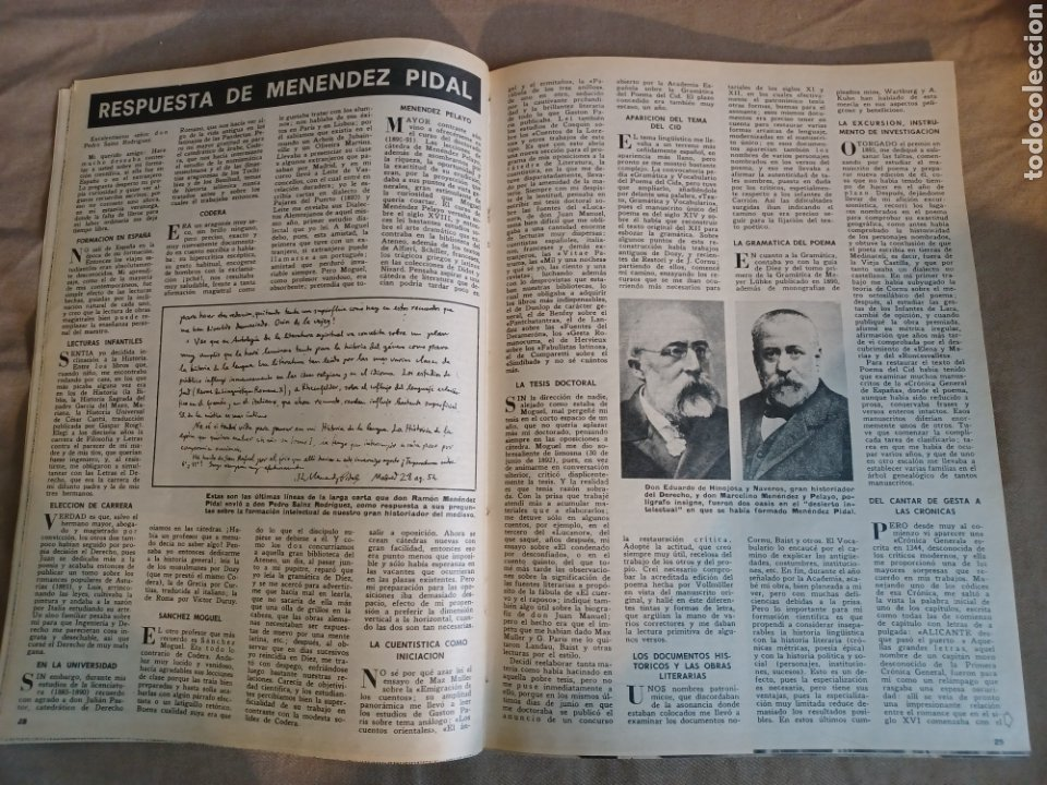 Coleccionismo de Los Domingos de ABC: REVISTA 1973 CARTAS ENTRE MENENDEZ PIDAL Y SAINZ RODRÍGUEZ- REPORTAJE MARI FRANCIS CAZADOR E.PARDO - Foto 2 - 248450035