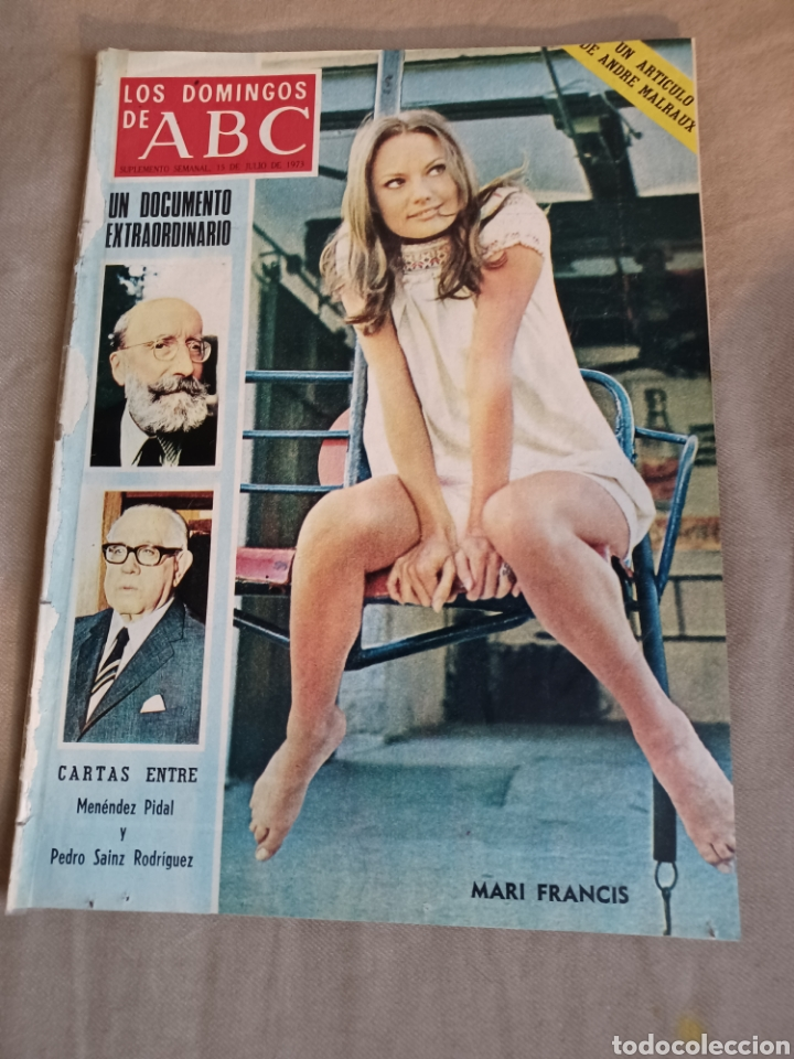 Coleccionismo de Los Domingos de ABC: REVISTA 1973 CARTAS ENTRE MENENDEZ PIDAL Y SAINZ RODRÍGUEZ- REPORTAJE MARI FRANCIS CAZADOR E.PARDO - Foto 5 - 248450035