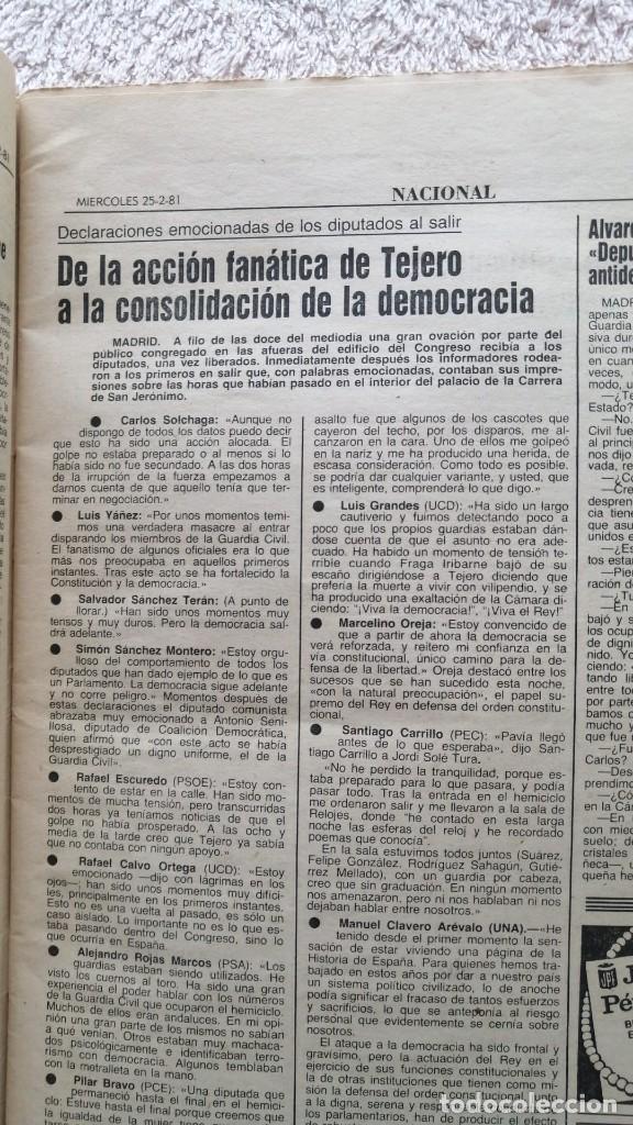 Coleccionismo de Los Domingos de ABC: ABC MADRID 25 FEBRERO 1981 EL FINAL DE LA PESADILLA GOLPE DE ESTADO TEJERO - Foto 2 - 252508915