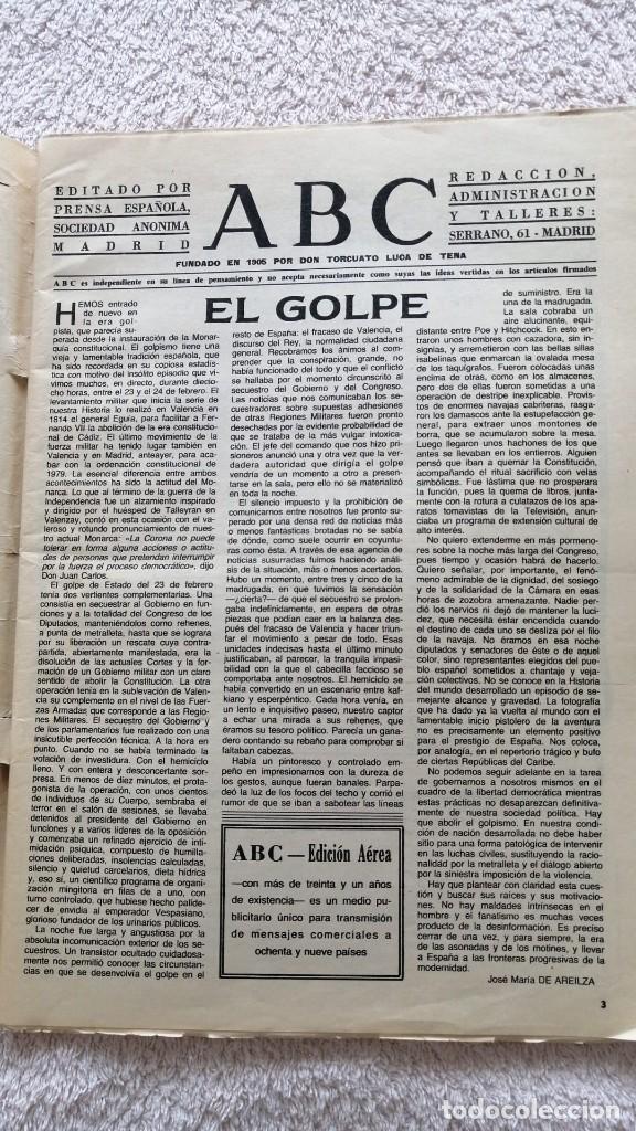 Coleccionismo de Los Domingos de ABC: ABC MADRID 25 FEBRERO 1981 EL FINAL DE LA PESADILLA GOLPE DE ESTADO TEJERO - Foto 5 - 252508915