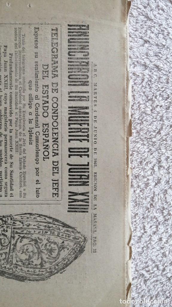 Coleccionismo de Los Domingos de ABC: ABC MADRID 4 JUNIO 1963 HA MUERTO EL PAPA Nº 17852 - Foto 3 - 252514120