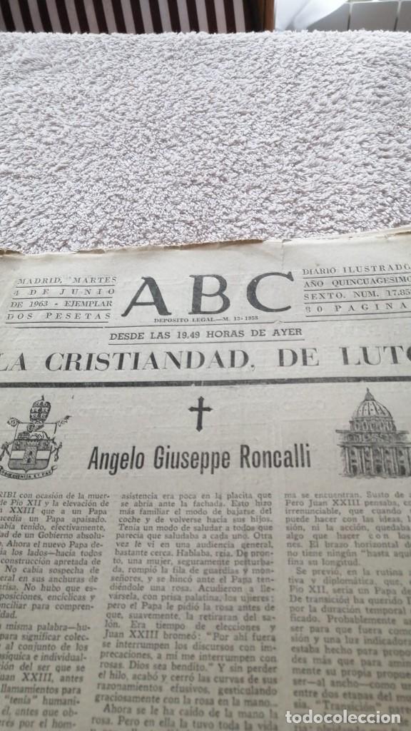 Coleccionismo de Los Domingos de ABC: ABC MADRID 4 JUNIO 1963 HA MUERTO EL PAPA Nº 17852 - Foto 4 - 252514120
