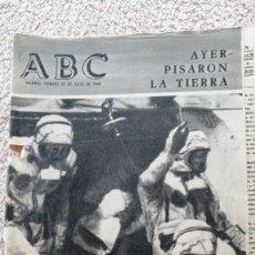 Colecionismo de Los Domingos de ABC: ABC MADRID 25 JULIO 1969 AYER PISARON LA TIERRA Nº19764 LA AVENTURA LUNAR FINALIZO AYER CON EXITO. Lote 252515470