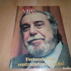 Coleccionismo de Los Domingos de ABC: LOS DOMINGOS DE ABC Nº 773 27 FEBRERO 1983. FERNANDO REY. Lote 254223020